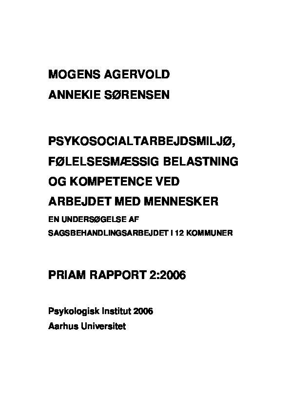 PRIAM - Delrapport 2