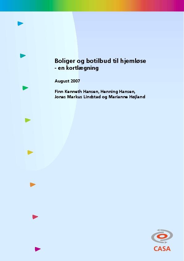 Boliger-og-botilbud-til-hjemløse-2007