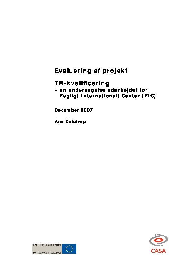 Evaluering-af-projektet-TR-kvalificering-2007