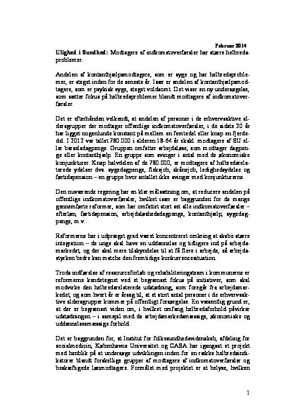 Ulighed-i-sundhed.2014